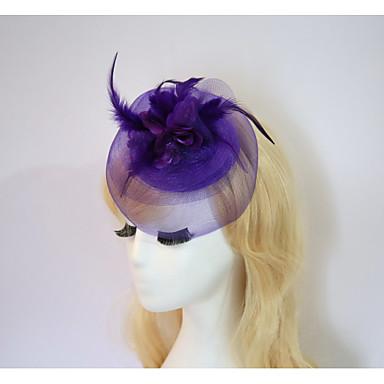 harpiks bomull fascinators blomster hatter headpiece klassisk feminin stil
