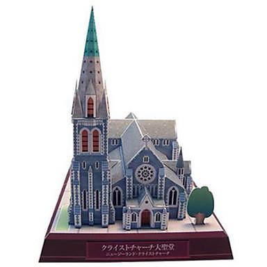 voordelige 3D-puzzels-3D-puzzels Bouwplaat Modelbouwsets Beroemd gebouw Kerk (83 DHZ Hard Kaart Paper Klassiek Kinderen Unisex Jongens Speeltjes Geschenk