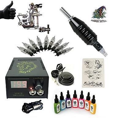 Macchina Del Tatuaggio Kit Iniziale - 1 Pcs Macchinette Per Tatuaggio Con 7 X 15 Ml Inchiostri Per Tatuaggi Lcd Alimentazione 1 X #06068078 Processi Di Tintura Meticolosi