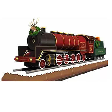 Toy Cars 3D Puzzles Jigsaw Puzzle Paper Craft Train Toys Train 3D DIY Furnishing Articles Simulation Unisex Pieces