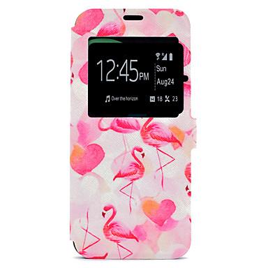 Capinha Para Samsung Galaxy S8 Plus / S8 Porta-Cartão / Com Suporte / Estampada Capa Proteção Completa Flamingo Rígida PU Leather para S8 Plus / S8 / S7 edge