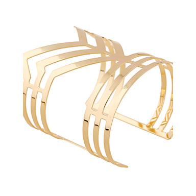 Women's Bangles Cuff Bracelet Fashion Rock Punk Ferroalloy Metalic Metal Alloy Geometric Jewelry Party Party / Evening Club Street Date