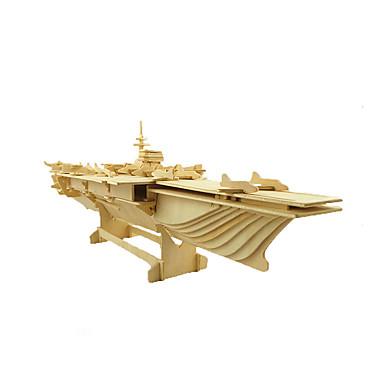 3D-puslespill Puslespill Tre Modell Modellsett Hangarskip Leketøy Krigsskip Hangarskip 3D Tre Uspesifisert Deler