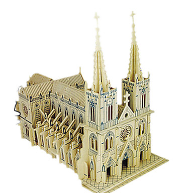 voordelige 3D-puzzels-3D-puzzels Legpuzzel Modelbouwsets Kerk (83 DHZ Simulatie Puinen Klassiek Kinderen Volwassenen Unisex Speeltjes Geschenk