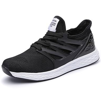 Homens sapatos Couro Ecológico Primavera Verão Conforto Tênis para Casual Preto Cinzento