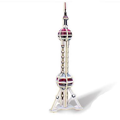 3D-puslespill Puslespill Tre Modell Leketøy Kjent bygning Arkitektur 3D GDS Tre Naturlig Tre Uspesifisert Deler