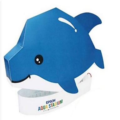 voordelige 3D-puzzels-3D-puzzels Papierkunst Dolfijn Zeedier Dieren DHZ Hard Kaart Paper Kinderen Unisex Speeltjes Geschenk