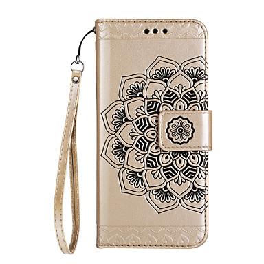 Capinha Para Huawei P9 Lite Huawei Huawei P8 Lite Porta-Cartão Carteira Com Suporte Flip Magnética Estampada Com Relevo Capa Proteção