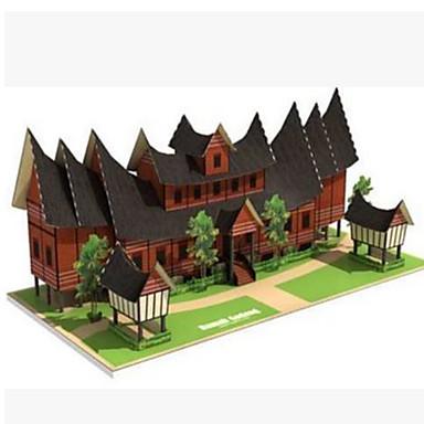 Quebra-Cabeças 3D Artesanato de Papel Construções Famosas Casa Arquitetura Faça Você Mesmo Cartão de Papel Duro Crianças Para Meninos