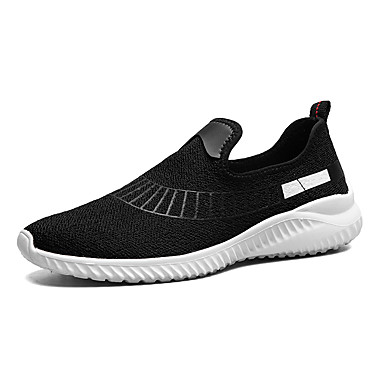 Men's Shoes PU Spring Summer Comfort Athletic Shoes for Casual White Black Gray Red