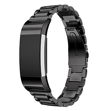 Pulseiras de Relógio para Fitbit Charge 2 Fitbit Pulseira Esportiva Aço Inoxidável Tira de Pulso