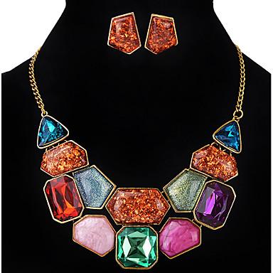 Naisten Niittikorvakorut Riipus-kaulakorut Synteettinen timantti Akryyli Metalliseos epäsäännöllinen Yksilöllinen Ylellisyys Uniikki