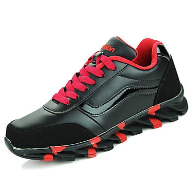 Homens sapatos Couro Ecológico Primavera Outono Conforto Tênis Caminhada Cadarço para Casual Branco/Preto Preto/Vermelho Branco/azul