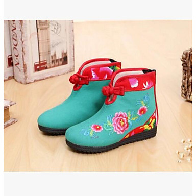 Girls' Boot Comfort Fall Canvas Casual Red Green Blue Flat