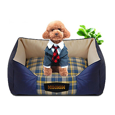 Dog Bed Pet Mats & Pads Plaid/Check Warm Soft Orange Red Blue For Pets
