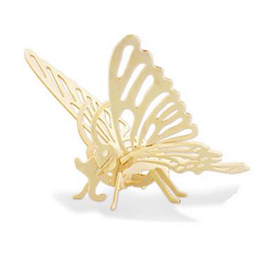 voordelige 3D-puzzels-3D-puzzels Legpuzzel Houten modellen Dinosaurus Vliegtuig Dier Vlinder 3D DHZ Puinen Hout Klassiek 6 jaar en ouder