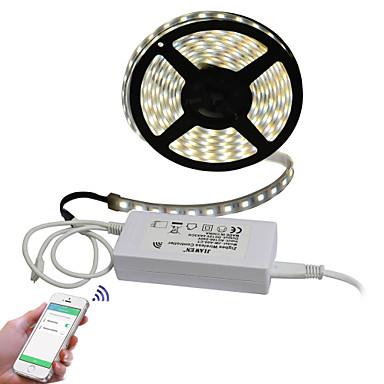 JIAWEN 5m Light Sets 300 LEDs 5050 SMD Multi Color Cuttable / APP Control 100-240 V / IP68