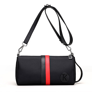 Women's Women Bags Spring All Seasons Canvas Nylon for Casual White Red