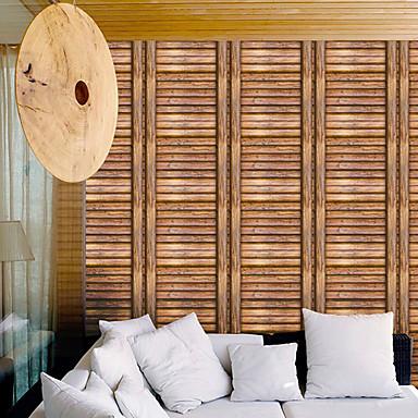Puukuvio Art Deco 3D Kodinsisustus Moderni Seinäpinnat, PVC/Vinyl materiaali Itsekiinnittyvä tapetti, huoneen Tapetit
