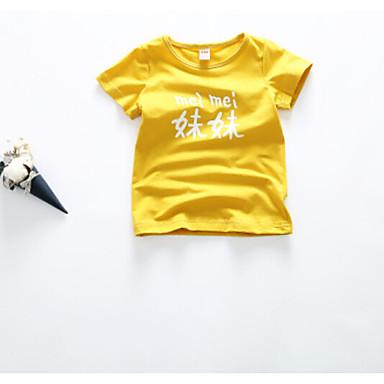 Baby Barne T-skjorte Lolita Tegneserie Oransje Rød Rosa Gul Fuksia