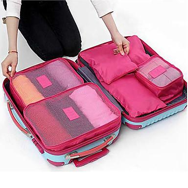 6 Sätze Reisetasche Packsystem Reisekoffersystem Wasserdicht Staubdicht Klappbar Langlebig Kulturtasche Kleider BH Oxford-Textil Reise