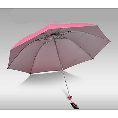 Plástico Homens / Mulheres / Para Meninos Ensolarado e chuvoso Guarda-Chuva Dobrável