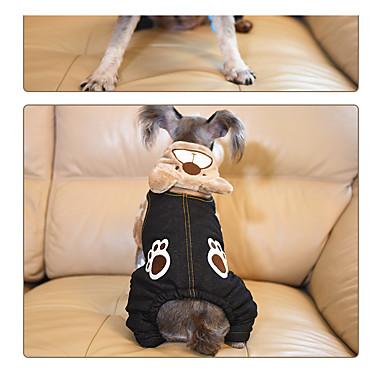Dog Hoodie Dog Clothes Casual/Daily Animal Gray Brown Khaki