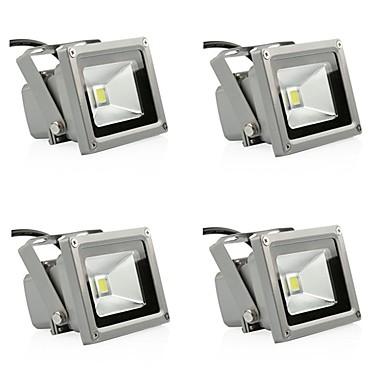 abordables Éclairage Extérieur-4pcs 10 W Projecteurs LED / Lumières de pelouse Imperméable / Décorative Blanc Chaud / Blanc Froid 85-265 V Eclairage Extérieur 1 Perles LED