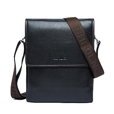 Men's Bags Cowhide Briefcase for Casual Formal Office & Career All Seasons Black Brown Deep Blue
