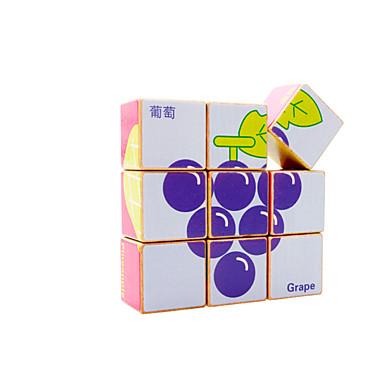 Blocos de Construir Quebra-Cabeça Quebra-Cabeças de Madeira Quadrada Legal Crianças Brinquedos Dom