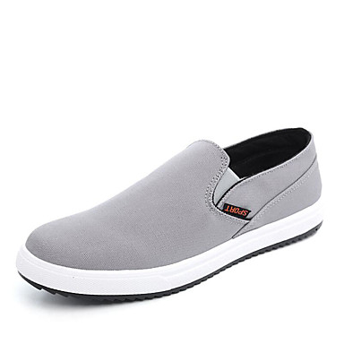 Men's Shoes Canvas Spring Fall Comfort Driving Shoes Sneakers Walking Shoes Zipper for Casual Outdoor Office & Career Black Gray Blue