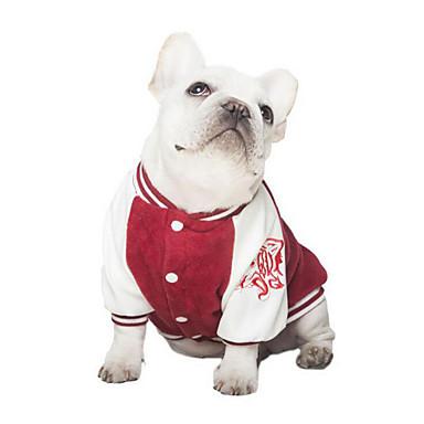 Koira College Koiran vaatteet Rento/arki Kirjain ja numero Tumman sininen Punainen