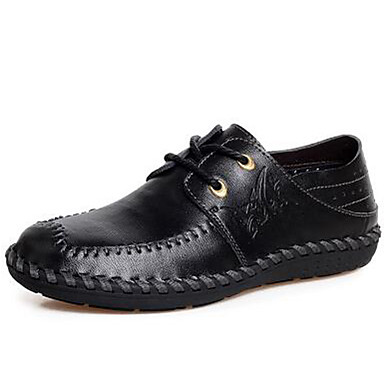 Men's Nappa Leather Fall / Winter Comfort Loafers & Slip-Ons Black / Light Brown / Party & Evening