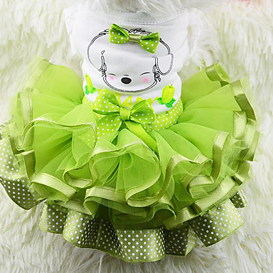 Dog Dress Dog Clothes Fruit Yellow Red Green Chiffon Cotton Costume For Pets Men's Women's Casual/Daily