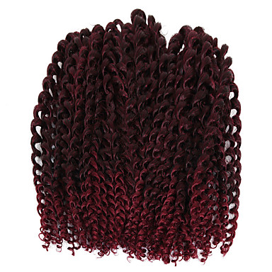 Freetress synthetic hair braid weft hair extension 3pcs/pack eunice crochet braid two tone brown bug curly hair 10inch braiding hair jerry curly twist