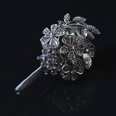 Bouquets de Noiva Alfinetes de Lapela Casamento Metal Cetim 2.76