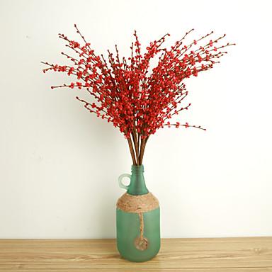 10 Gren Polyester Planter Bordblomst Kunstige blomster
