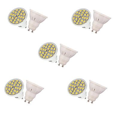 3W GU10 LED-spotpærer MR16 24 leds SMD 5050 Dekorativ Varm hvit Kjølig hvit 250lm 3000/6500K AC 220-240V