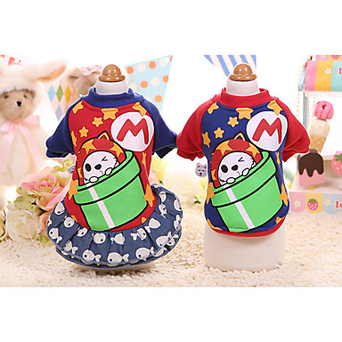 Dog Sweatshirt Dress Dog Clothes Casual/Daily Cartoon Costume For Pets
