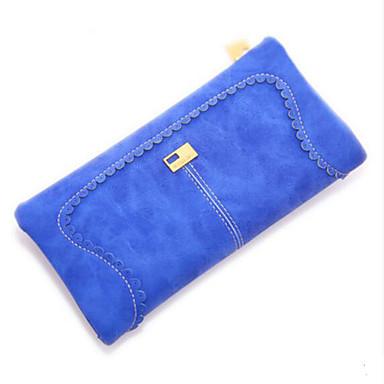Women Coin Purse PU All Seasons Casual Outdoor Round Zipper Blue Black