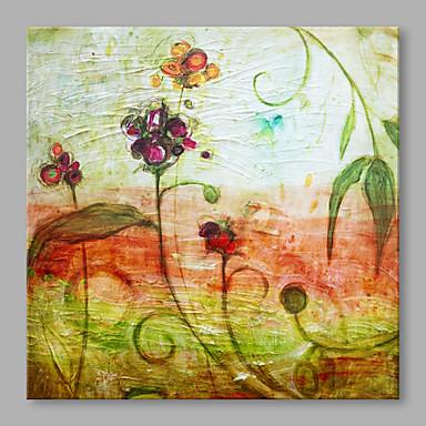 Pintados à mão Abstrato Quadrada, Abstracto Alta qualidade Escritório/Negócio Moderno/Contemporâneo Tela de pintura Pintura a Óleo