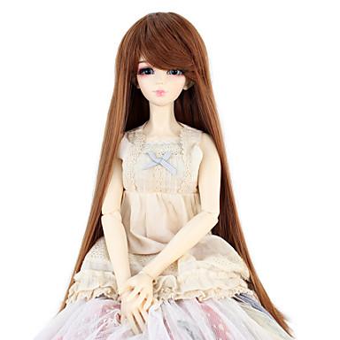 Perucas sintéticas Liso Densidade Mulheres boneca peruca Cabelo Sintético