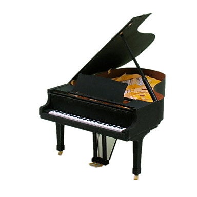 3D Puzzles Paper Model Paper Craft Model Building Kit Piano Musical Instruments Simulation DIY Classic Toy Musical Instrument Unisex Gift