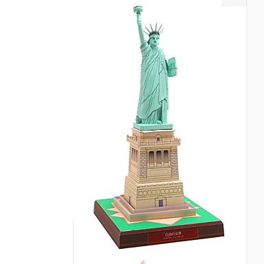 Quebra-Cabeças 3D Maquetes de Papel Construções Famosas Estátua da Liberdade Faça Você Mesmo Cartão de Papel Duro Crianças Unisexo Brinquedos Dom