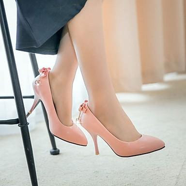 Talons Synthétique à Talon 05991416 Chaussures Marche Femme Eté Noeud Nouveauté Polyuréthane Bout Chaussures Automne Confort pointu Aiguille 4zT8pw5Tq