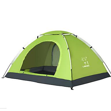 LINGNIU® 3-4 Personen Zelt Einzeln Camping Zelt Einzimmer Falt-Zelt Wasserdicht warm halten Sonnenschutz für 1500-2000 mm Oxford CM