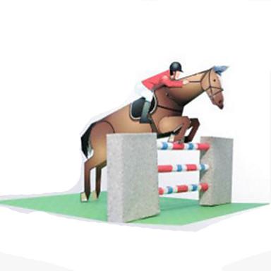 Quebra-Cabeças 3D Maquetes de Papel Artesanato de Papel Brinquedos de Montar Cavalo Concorrência Faça Você Mesmo Cartão de Papel Duro