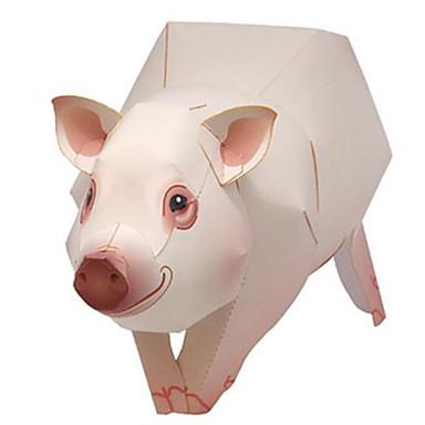 voordelige 3D-puzzels-3D-puzzels Bouwplaat Varken Dieren DHZ Hard Kaart Paper Kinderen Unisex Speeltjes Geschenk