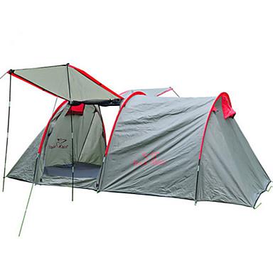 Trackman® 2 الأشخاص خيمة كبيرة خيمة التخييم العائلية في الهواء الطلق مكتشف الأمطار مكتشف الغبار قابلة للطى طبقة واحدة خيمة التخييم 2000-3000 mm إلى التخييم والتنزه الخارج نايلون البوليستر قماش التفتا