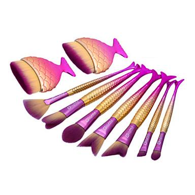 9pcs Conjuntos de pincel Pêlo Sintético Sombra de olho Blush Pó Base